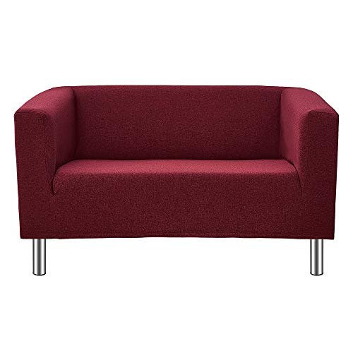 Sofá compacto de 2/3 plazas, de tela de lino, sofá...