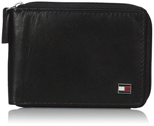 Tommy Hilfiger Mens Oxford Ziparound Wallet,Black,,One Size