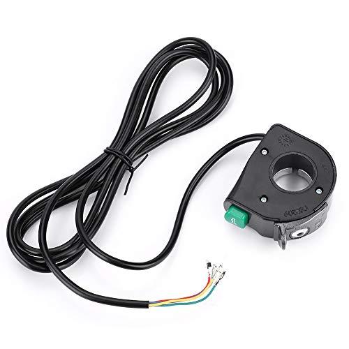 Changor Interruptor eléctrico de la lámpara de Bicicleta eléctrica, Calidad de plástico PVC plástico 1.2m (Negro)