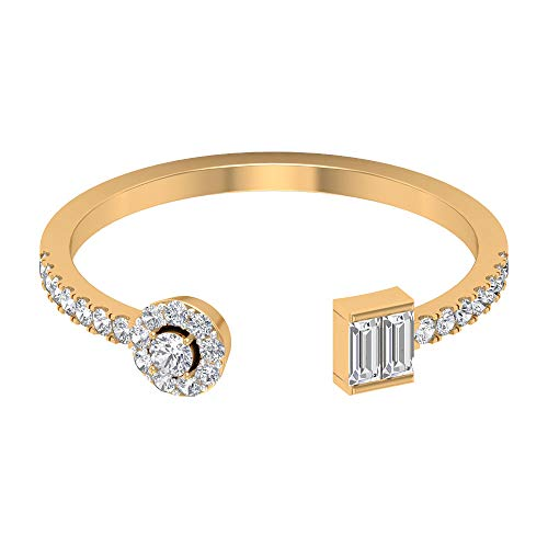 Rosec Jewels 10 quilates oro amarillo round-brilliant-shape baguette-shape H-I Diamond