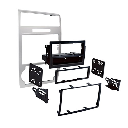 Metra 99-6519S Single/Double DIN Dash Installation Kit for Select 2005-07 Dodge Charger/Magnum (Silver)