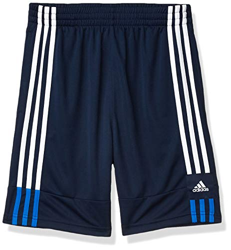 adidas Boys' Little Active Sports Athletic Shorts, 3G Speed X Navy/Blue, 4