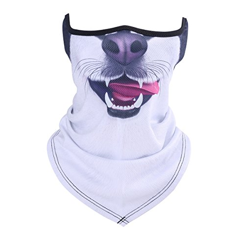 ECYC Cat Dog Golf Imprimer Masque Demi-Masque d'hiver Balaclava Scarf Bandana