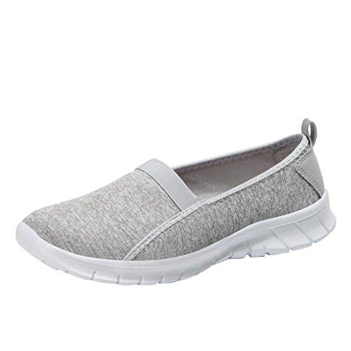 Zapatillas de Deporte para Mujer Otoño 2018 PAOLIAN Zapatos de Plano Dama Casual Cómodo Señora Senderismo Suela Blanda Espadrilles Aire Libre y Deporte Moda