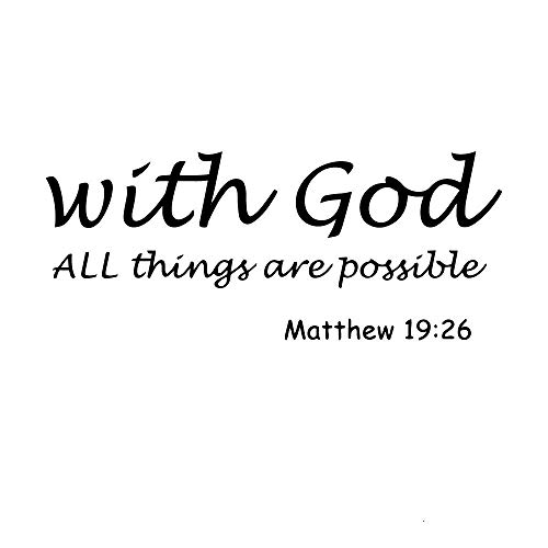 Everything is possible quote sticker waterproof vinyl wallpaper home decor for living room kids bedroom decal vinyl art-XL 73 cm x 30 cm