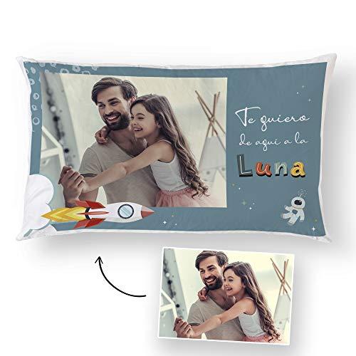 Fotoprix Cojín Personalizado con Foto para Papá | Regalo Original día del Padre | Varios diseños Disponibles (Día del Padre 1, 30 x 50 cms)