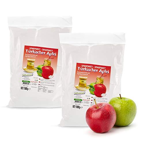 OUDIEN Set mit Instant Tee roter türkischer Apfel von Ottoman 1kg, löslicher Früchtetee mit Apfel Geschmack, Pulver für Apfeltee