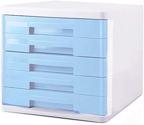 REWD Archivador Azul, un archivador, Fichero archivador, 4/5 Cajón archivador for A4 Archivo, poniendo Archivo archivador de Oficina Vertical Gabinete (Color : 5 Layer)