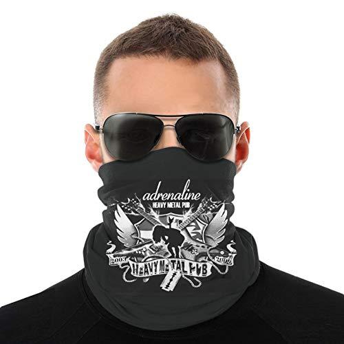 Bufandas cálidas unisex de heavy metal, pañuelos para la cabeza, sombreros multifuncionales para toallas faciales elásticas, lavables, 50 * 25cm