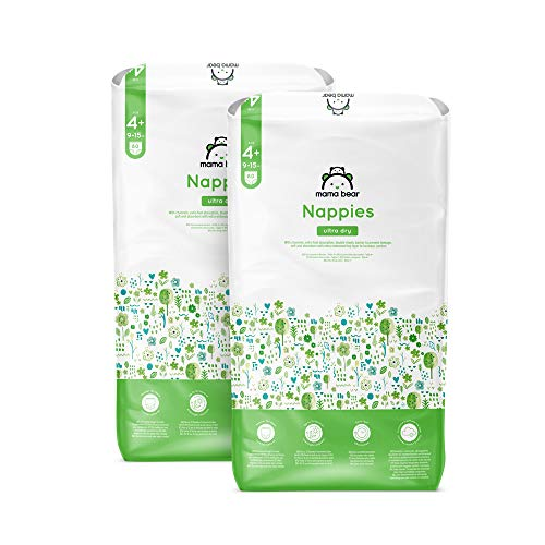 Marchio Amazon - Mama Bear - Pannolini ultra asciutto - Taglia 4+ (9-15 kg)- Con canali d'areazione - 160 pannolini (2 confezioni x 80) - Nuova versione
