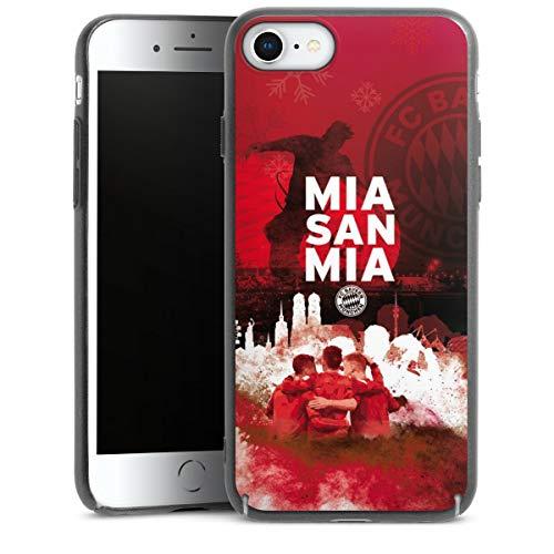 DeinDesign Handyhülle kompatibel mit Apple iPhone 7 Cover anthrazit Schutzhülle FCB mia san mia FC Bayern München