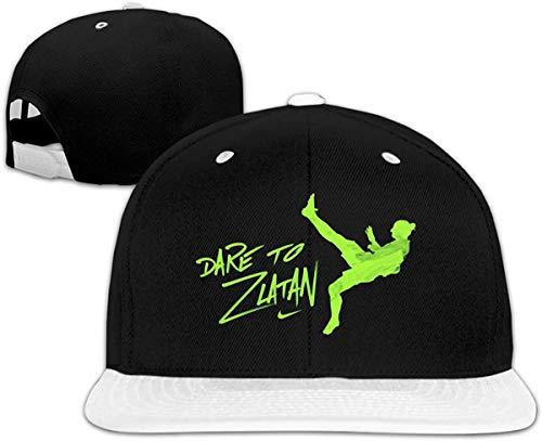 YGSKUY Unisex Baseball Caps Dare to Zlatan Adjustable Snapback Flat Brim Street Rapper Hat,White,One Size