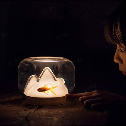 w.p. Night Light, décoration en Verre Fait à la Main, Poisson Creative Design Light Tank, Creative Night Light, Main, lumière Chaude