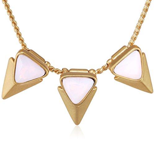 Pilgrim Jewelry Damen-Halskette mit Anhänger aus der Serie Soft shafts vergoldet rosa 38.0 cm 121312701