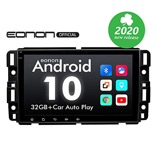 Car Stereo Double Din Car Stereo, Android Head Unit Android 10 Eonon Car Stereo for Chevy/Chevrolet Silverado 8 Inch Car Radio Support Split Screen, Android Auto Built-in Apple Carplay/DSP -GA9480A