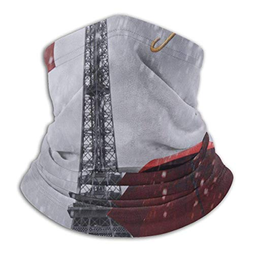 Parigi Torre Eiffel Scaldacollo con ombrello rosso Scaldacollo scaldacollo antivento Sciarpa passamontagna UV per lo sport all'aperto