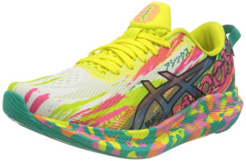 ASICS Damen Gel-Noosa Tri 13 Road Running Shoe, Hot Pink/Sour Yuzu, 39.5 EU