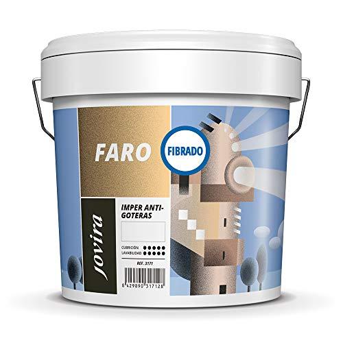 ANTIGOTERAS ELASTICA FIBRADO, Pintura elástica con fibra para terrazas, evita filtraciones en todo tipo de cubiertas y terrazas. (5 KG, ROJO)