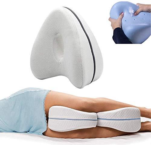 Newgreenca Leg Pillow,ergonomisches Seitenschläferkissen || orthopädisches Beinkissen mit Memory-Schaum für Seitenschläfern,Beinkissen bietet Linderung bei Ischias, Rücken, Hüfte (2 Stücke)