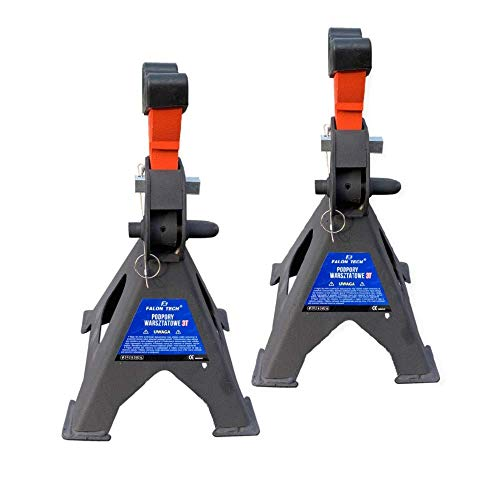 Unterstellböcke 3T oder 6T Stützböcke Wagenheber Ständer Modellwahl (1 Paar mit Gummi 3T)