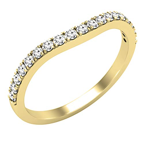 DazzlingRock Collection 10 quilates oro amarillo redonda H-I Diamante cultivado en laboratorio.
