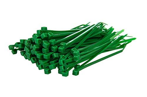 Gocableties Lot de 100 Serre-câbles, Vert, 100 mm x 2,5 mm, Qualité Supérieure Colliers de SerragePlastique