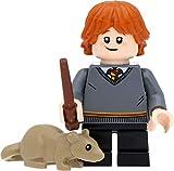LEGO Harry Potter - Figura de Ron Weasley con rata y varita...