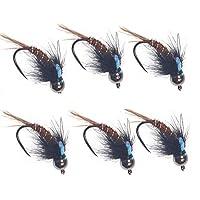 6 pcs 蚊フライフィッシングルアーセット 釣り,耐腐食性 人工昆虫釣り 釣りフック 蚊の形 高い誘引力 フィッシングルアー 明るい色