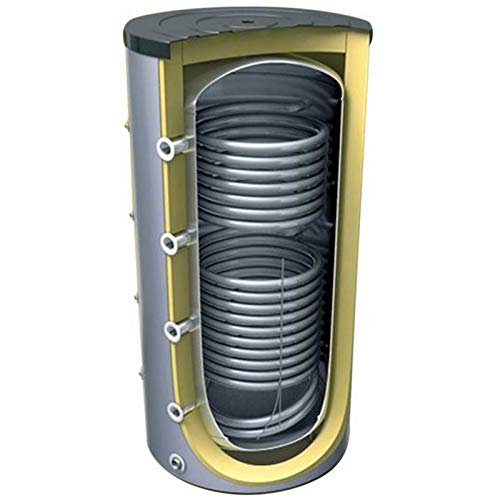 Pufferspeicher mit 2 Wärmetauscher für Heizungssysteme in den Größen 400 500 800 1000 1500 2000 Liter