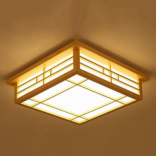 Deckenleuchte, LED-Lampe,Massivholz Japanische Tatami-Leuchte,Wohnzimmerleuchte, Schlafzimmer,Balkon (35cm)