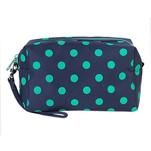 DAYAN Cosmetic Make-Up organizzatore del sacchetto del sacchetto della chiusura Cosmetic Bag Colore profondo Blu