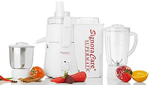 SignoraCare Supermatic SCSPM-5100 900-Watt Mixer Grinder with 2 Jars (White)