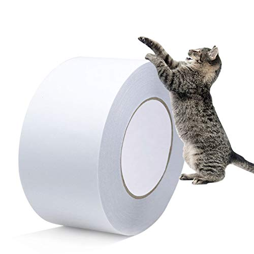 Jmiao Anti-Scratch Cat Scratching Deterrent Tape Anti-Scratch Cat Furniture Protector,Clear Double Sided Couch Tape,Stop Cat Scratching Furniture Protector(76mm*30yard, Single Roll)