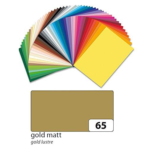 CFO6465 Tonpapier Metallicfarben-Gold, DIN A4, 100 Bögen