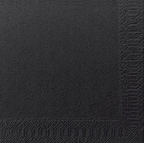 Duni Cocktail-Servietten 3lagig Tissue Uni 250er schwarz, 24 x 24 cm