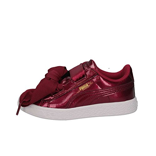 Puma Basket Heart Glam PS, Zapatillas Unisex Niños, Rojo (Tibetan Red-Tibetan Red), 33 EU