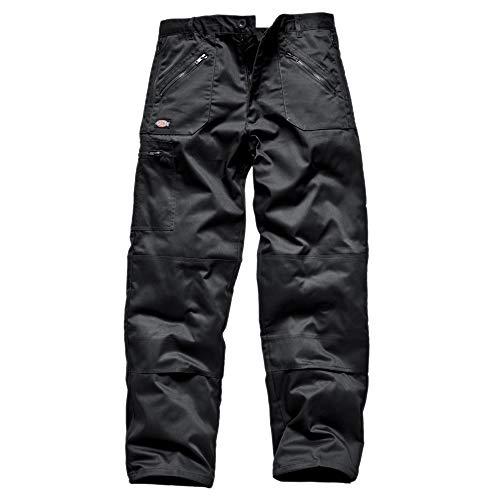 Dickies - Pantalones de Trabajo Modelo Redhawk Action Hombre Caballero (Longitud Pierna Regular) (Cintura 112cm x Reg) (Negro)