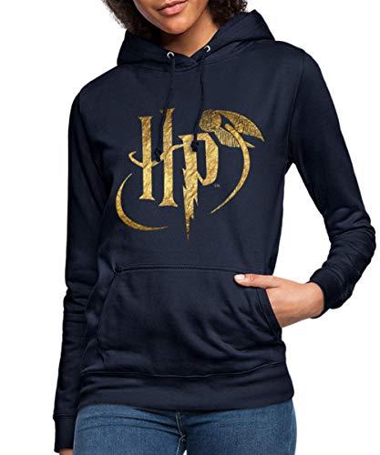 Harry Potter Logo Le Vif d'or Sweat À Capuche Femme, M, Marine