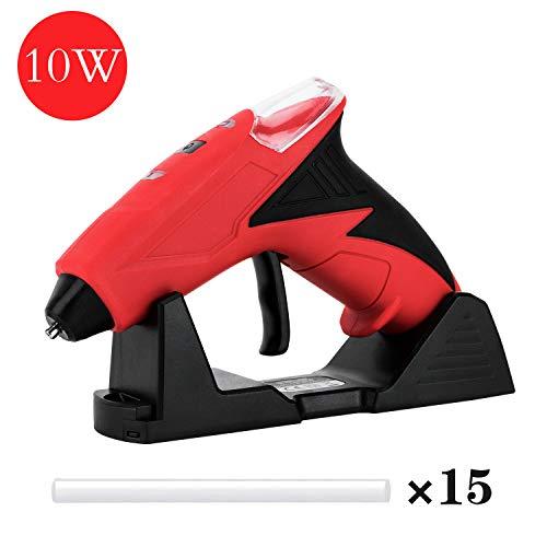 FL Hot Glue Gun, Lithium Battery, 10W Mini Size Cordless Glue Gun with 15 pcs Glue Sticks, Packaging, DIY, Arts & Craft, Repairing and More, Red (FQ-099AS)