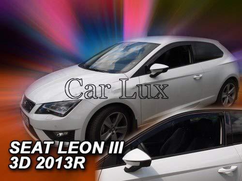 Car Lux AR04852 - Derivabrisas Deflectores de Viento Leon 5F de 3 Puertas