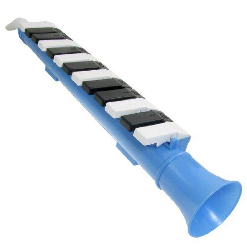 SODIAL(R) Melodica de nota de 13 teclas Azul Piano de viento portatil organo boca