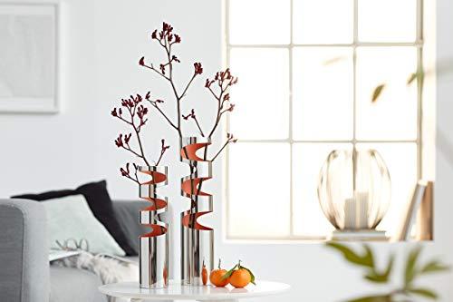 Philippi Loom Vase, S Edelstahl, hochglanzpoliert, innen lackiert