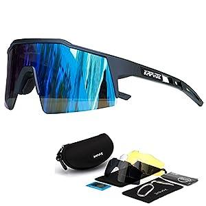 KAPVOE Cycling Glasses Polarized Sunglasses Women Men MTB Mountain Bike Riding Bicycle Motorcycle