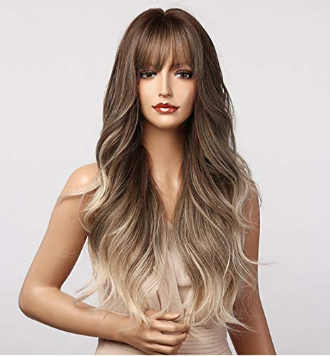 adquirir pelucas mujer rubias con flequillo