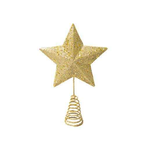 Varmax Christmas Tree Toppers Glitter Christmas Decorations 7'' Diameter