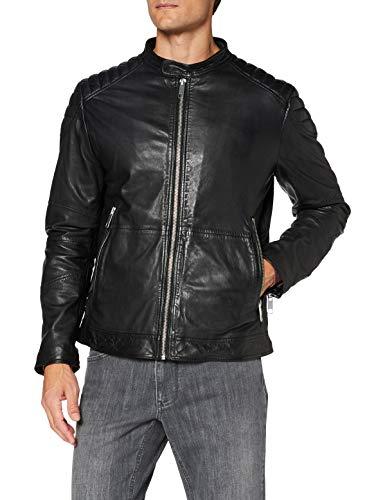 Antony Morato Mmlc00056-fa200005-9000 Chaqueta de Cuero, Negro, 48 para Hombre