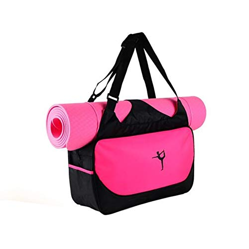 Suszian Bolsa de colchoneta de Yoga Grande Compacta, Bolsa de colchoneta de Yoga Soporte para Bolsa Impermeable Bolsa de Deporte de Gran Capacidad para Llevar Gimnasio Bolsa de Deporte
