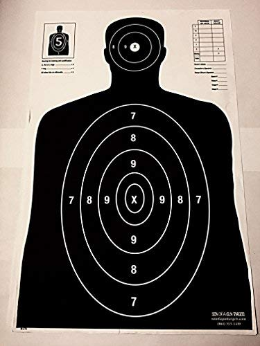 Son of A Gun Paper Shooting Targets, HIGH Shot Placement Visibility, Life Size B-27 Silhouettes, Intense Black Package, 100 Total Count, GET More Bang for Your Buck! Best Prices Anywhere!