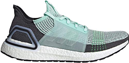 adidas Mens Ultraboost 19 Running Shoes Road Lightweight Knit Stretch Ice Mint/Grey UK 8 (42)