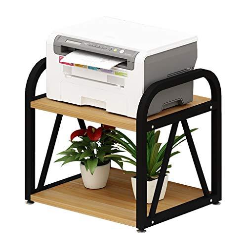 Oficina Soportes para Impresoras Doble Capa multiuso de la impresora soporte de sobremesa estante del soporte de almacenamiento de escritorio for la impresora 3D Mini Print Racks ( Color : Black-a )